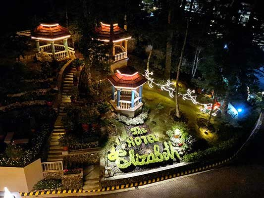 Aerial view - night time